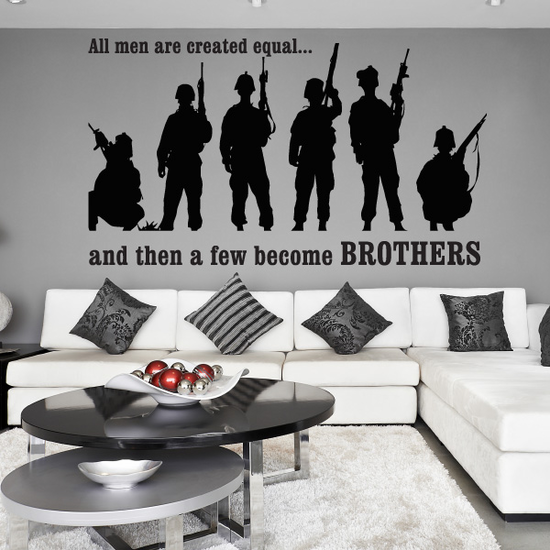 All Men Are Created Equal Soldiers Decal