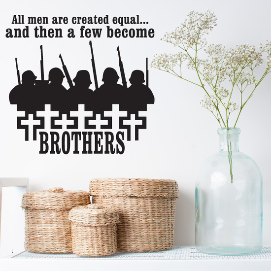 All Men Are Created Equal Crosses Decal