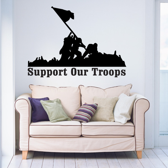 Support Our Troops Iwo Jima Decal