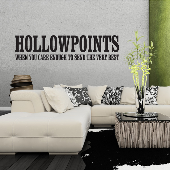 Hollowpoints Quote Decal
