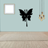 Long Tailed Butterfly Silhoutte Decal