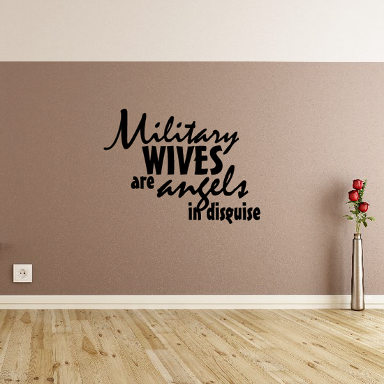 Military Wives Are angels in Disguise Decal