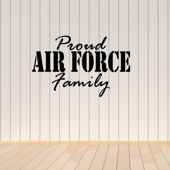 Proud Air Force Family Decal