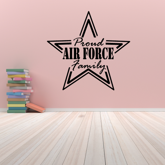 Proud Air Force Family Star Outline Decal