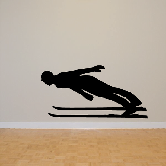 Skiing Wall Decal - Vinyl Decal - Car Decal - Bl012
