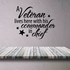 A Veteran Lives Here Wall Decal