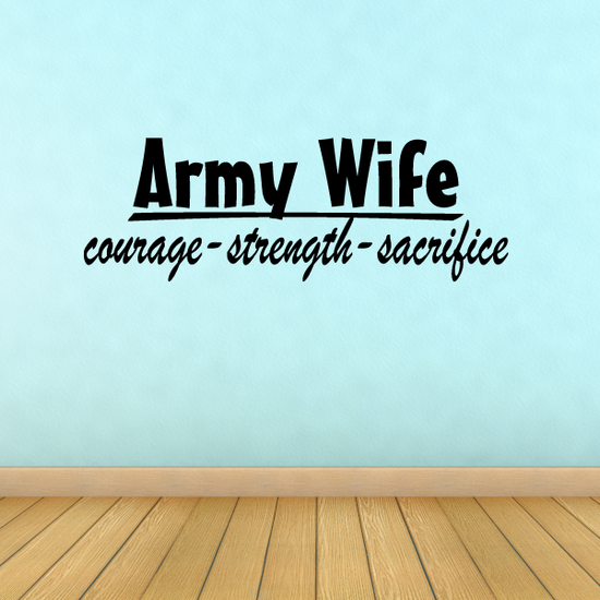 Army Wife Wall Decal