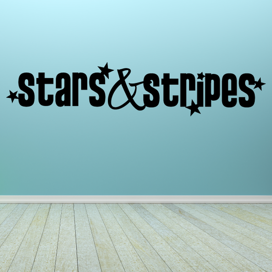 Stars and Stripes Text Wall Decal