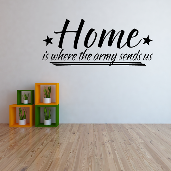 Home Is Where the Army Sends Us Wall Decal