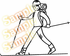 Cross Country Skier Skiing Wall Decal - Vinyl Decal - Car Decal - MC008