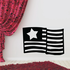Star America Flag Decal