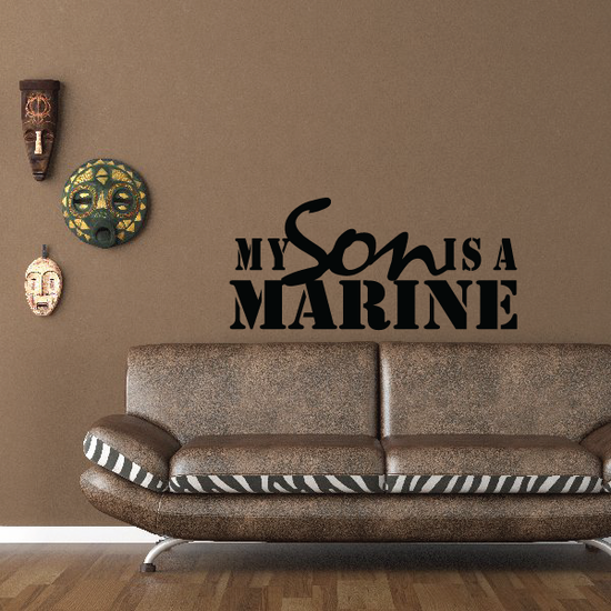 My Son is a Marine Decal