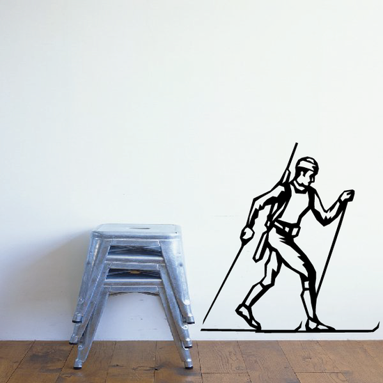 Skiing Wall Decal - Vinyl Decal - Car Decal - SM003