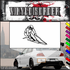 Skiing Wall Decal - Vinyl Decal - Car Decal - SM006