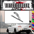 Skiing Wall Decal - Vinyl Decal - Car Decal - SM011
