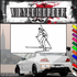 Skiing Wall Decal - Vinyl Decal - Car Decal - SM015