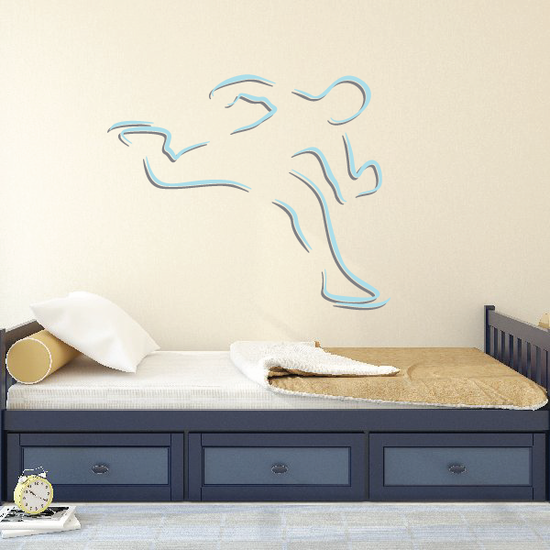 Ice Skating Wall Decal - Vinyl Sticker - Car Sticker - Die Cut Sticker - CDScolor0035