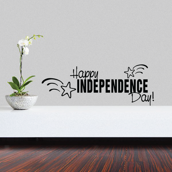 Happy Independence Day Decal