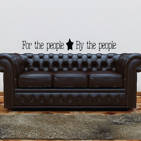 For the People By the People Decal