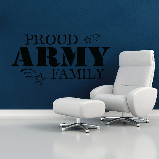 Proud Army Family Stars Decal