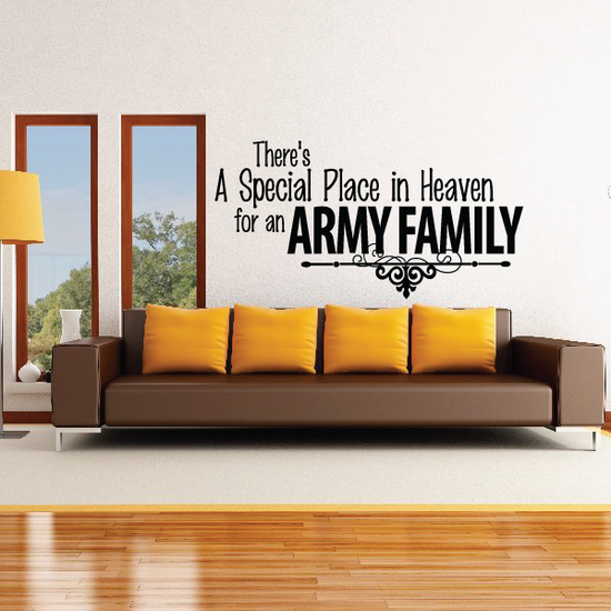 Special Place for an Army Family Decal