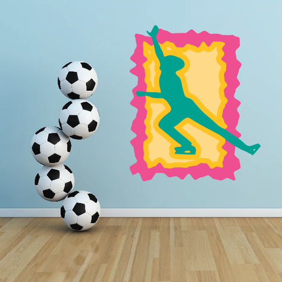Ice Skating Wall Decal - Vinyl Sticker - Car Sticker - Die Cut Sticker - CDScolor0051