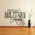 Proud Military Family Script Decal
