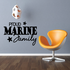 Proud Marine Family Script with Stars Decal