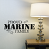 Proud Marine Family Stars Decal