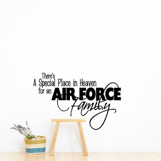Special Place for an Air Force Family Script Decal