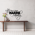 Special Place for a Marine Script Family Decal