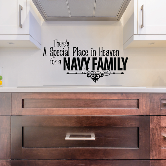 Special Place for a Navy Family Decal