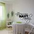 Special Place for a Navy Family Script Decal