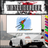 Skiing Wall Decal - Vinyl Sticker - Car Sticker - Die Cut Sticker - SMcolor016