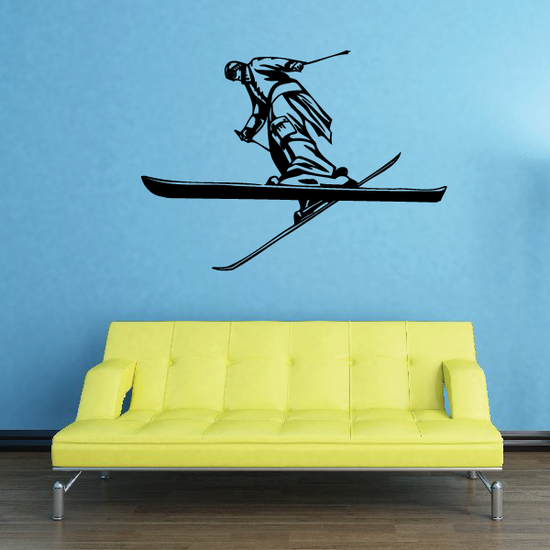 Skiing Wall Decal - Vinyl Decal - Car Decal - CDS078