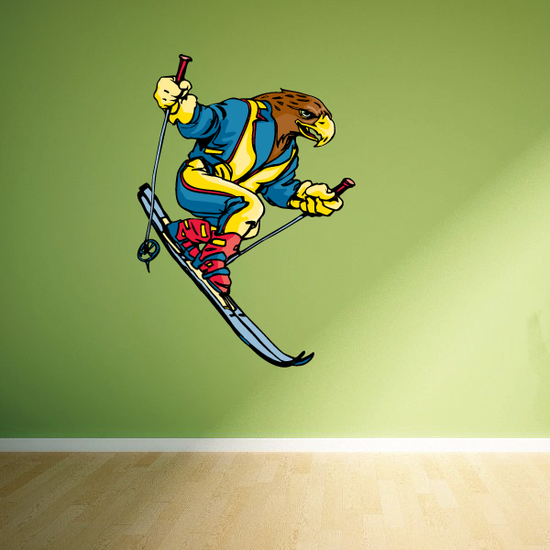 Skiing Wall Decal - Vinyl Sticker - Car Sticker - Die Cut Sticker - CDSCOLOR010