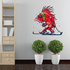 Skiing Wall Decal - Vinyl Sticker - Car Sticker - Die Cut Sticker - CDSCOLOR012