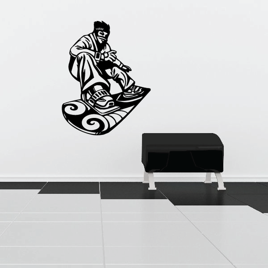 Snowboarding Wall Decal - Vinyl Decal - Car Decal - CDS053
