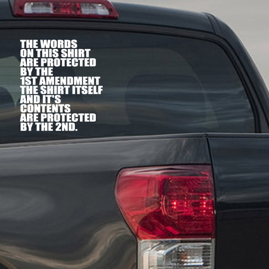 Protected by Amendments Decal