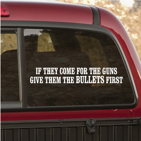 If They Come For The Guns Decal