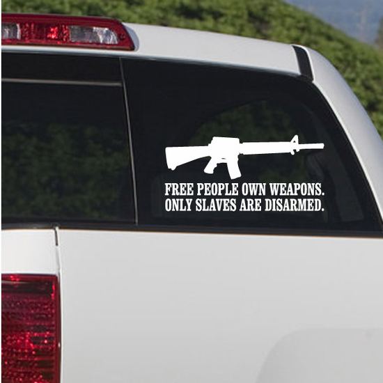 Free People Own Weapons Decal
