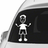 Dad Smiling with Waving Arms Decal
