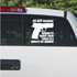 45 ACP Waste of Bullets Decal
