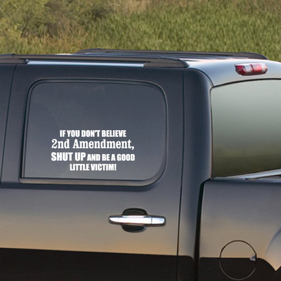 If You Don't Believe 2nd Amendment Decal