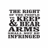 The Right Of The People To Keep And Bear Arms Decal