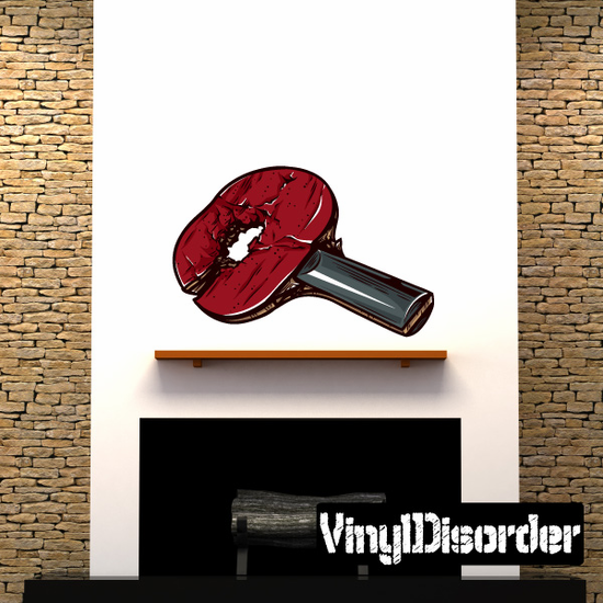 Ping-Pong Racket Wall Decal - Vinyl Car Sticker - Uscolor001