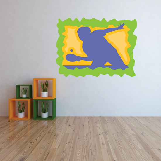Ping Pong Wall Decal - Vinyl Sticker - Car Sticker - Die Cut Sticker - CDSCOLOR008