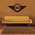 USA Wings Badge Decal
