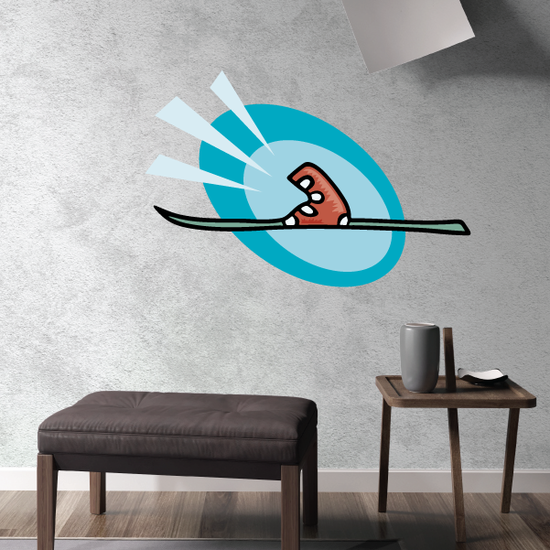 Skiing Wall Decal - Vinyl Sticker - Car Sticker - Die Cut Sticker - CDSCOLOR115