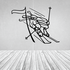 Skiing Wall Decal - Vinyl Decal - Car Decal - CDS004